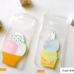 case iphone 6 (4.7) พลาสติกโปร่งใสสกรีนลายไอศครีมและหมีขั่วโลก น่ารัก น่ากิน ราคาส่ง ราคาถูก
