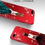 เคส iPhone 7 Plus / 8 Plus ซิลิโคนลายผู้หญิงแสนสวยมากๆ ราคาถูก (สีของสายคล้องแล้วแต่ร้านจีนแถมมา)