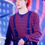 เสื้อแฟชั่นเกาหลี / เสื้อคอน / เสื้อแขนยาว EXO PLANET #2 The EXO' LuXion (สีแดงดำ)