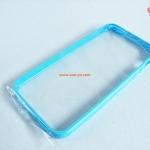 เคสไอโฟน 5 ขอบยาง หลังใส สีฟ้า