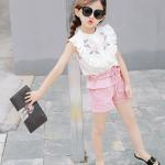 เสื้อ+กางเกง สีขาว แพ็ค 5ชุด ไซส์ 100-110-120-130-140