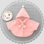 เสื้อกันหนาวขนสัตว์สีชมพูแต่งดาวสีเงินที่ปลายหมวก [size 1y-2y-3y-4y]