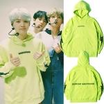 เสื้อฮู้ด (Hoodie) สีเขียวอ่อน แบบ Suga