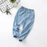 กางเกงขายาวสียีนส์แต่งลายรถที่ขา [size 2y-3y-4y-5y-6y]