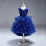 ชุดกระโปรง สีน้ำเงิน แพ็ค 6 ชุด ไซส์ 90-100-110-120-130-140 (เลือกไซส์ได้)