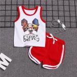 ชุดเซตเสื้อกล้ามลายน้องหมา+กางเกงสีแดง [size 6m-1y-2y-3y]