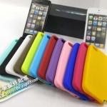 case iphone 5 เคสไอโฟน5 เคสซิลิโคนมีปุ่ม home สีตัดสวยใหญ่ เคสสีหวานน่ารัก Clever bean silicone