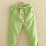 กางเกง สีเขียว แพ็ค 5 ชุด ไซส์ 100-110-120-130-140 (เลือกไซส์ได้)