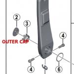 ฝาปิดขาจาน POWER, FC-R9100-P Outer Cap, #Y1VU00025
