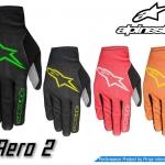 ถุงมือเต็มนิ้ว Alpinestars รุ่น Aero2 รัดข้อเบากระชับฝ่ามือ มีไซส์ M , L , XL