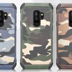 เคส Samsung S9+ (S9 Plus) เคสกันกระแทกแยกประกอบ 2 ชิ้น ด้านในเป็นซิลิโคนสีดำ ด้านนอกพลาสติกลายทหาร ลายพราง สวย แกร่ง ถึก ราคาถูก