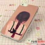 case iphone 5 เคสไอโฟน5 เคสลายการ์ตูน อาร์ตๆ น่ารัก หวานแหวว ประดับคริสตัลสวยๆ
