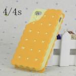 case iphone 4/4s เคสไอโฟน4/4s ขนมบัง crackers ซิลิโคน 3D น่ากิน น่ารักๆ