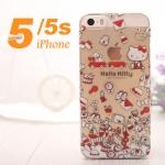case iphone 5s / 5 เคสพลาสติกใสลายการ์ตูนน่ารักๆ คิตตี้ หมีพูห์ มิกกี้เม้าส์ ราคาส่ง ขายถูกสุดๆ -B-
