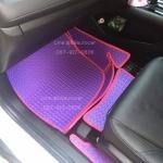 พรมปูพื้นรถ Honda HR-V ลายธนูสีม่วงขอบชมพู