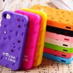 case iphone 4/4s เคสไอโฟน4/4s เคสรูปชีสนิ่มๆ กับหัวมิกกี้เมาส์น่ารักสุดๆ silicone 3D