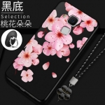 เคส Huawei Nova Plus ซิลิโคนแบบนิ่ม สกรีนลายดอกไม้ สวยงามมากพร้อมสายคล้องมือ ราคาถูก (ไม่รวมแหวน)