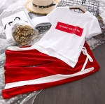 เสื้อ+กางเกง สีแดง แพ็ค 5 ชุด ไซส์ 7-9-11-13-15