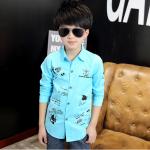 เสื้อ สีฟ้า แพ็ค 6 ชุด ไซส์ 110-120-130-140-150-160