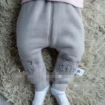 กางเกง สีเทา (ด้านในมีขนอ่อนๆ) แพ็ค 6 ชุด ไซส์ 66-73-80-80-90-90