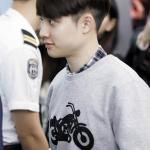 เสื้อแฟชั่นเกาหลี EXO DO แขนยาวสีเทา