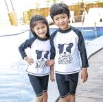 ชุดว่ายน้ำ สีขาว แพ็ค 4 ชุด ไซส์ S-M-L-XL