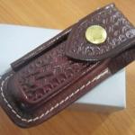 VICTORINOX Zermatt Belt Pouch Medium Brown Leather Pocket Knife VN33204