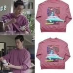 เสื้อแขนยาว (Sweater) สีม่วง แบบ Lee Jongsuk ในซีรี่ย์ While You Were Sleeping