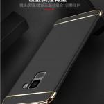 เคส Samsung A8+ 2018 (A8 Plus 2018) พลาสติกขอบทองสวยหรูหรามาก ราคาถูก