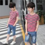 เสื้อ+กางเกง สีชมพู แพ็ค 5 ชุด ไซส์ 130-140-150-160-170 (เลือกไซส์ได้)