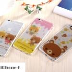 เคสไอโฟน6 4.7 นิ้ว ซิลิโคน TPU สกรีนลายหมีน้อยสีน้ำตาลสุดน่ารัก ราคาส่ง ราคาถูก
