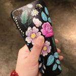 เคส VIVO V5 Plus ซิลิโคนสกรีนลายดอกไม้สวยงาม หรูหรา สวยงามมาก ราคาถูก (สายคล้องแบบสั้นหรือยาวแล้วแต่ร้านจีนแถมมา)