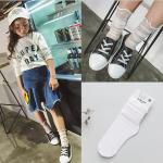 ถุงเท้ายาว สีขาว แพ็ค 10 คู่ ไซส์ M (ประมาณ 4-6 ปี)