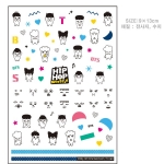 BTS- HIP HOP MONSTER Nail sticker