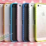 case iphone5 เคสไอโฟน5 ขอบเคสโลหะฝังเพชร สวยๆ The ultra-thin metal border flash drill bumper