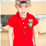 เสื้อ สีแดง แพค 5 ตัว ไซส์ 100-110-120-130-140
