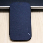 Case Samsung Grand i9082 เคสฝาพับแบบบาง ผิวเคสเป็นลายผ้าไหมเงาๆ สวยๆ