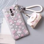 เคส Huawei Mate 10 Pro พลาสติก TPU ลายดอกไม้แสนน่ารัก พร้อมสายคล้องมือและกระเป๋าเก็บสายหูฟัง ราคาถูก