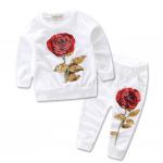 เสื้อ+กางเกง สีขาว แพ็ค 5ชุด ไซส์ 100-110-120-130-140 (เลือกไซส์ได้)