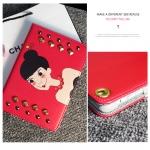 เคส iPad Air 2 หนังเทียมปักหมุดลายเด็กหญิงน่ารัก สุดเท่ ราคาถูก