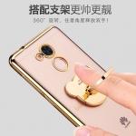 เคส Huawei Y7 Prime ซิลิโคน TPU โปร่งใสสุดวิ้งประดับขอบสีเมทัลลิคเงางาม + แหวน ราคาถูก