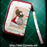 กระเป๋าสองซิป ลายน้องซูถือห่วงยาง - สั่งทำค่ะ