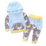 เสื้อ+กางเกง สีฟ้า แพ็ค 4 ชุด ไซส์ 70-80-90-100 (เลือกไซส์ได้)