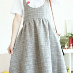 [Pre order] LP4240 เอี๊ยมกระโปรงลายสก๊อต สไตล์วินเทจ Harajuku Girl