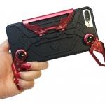 เคส iPhone 8 Plus กันกระแทก 2 ชั้น ด้านในเป็นซิลิโคน ด้านนอกเป็นพลาสติก PC สีเมทัลลิคเลียนแบบโลหะ เหมาะสำหรับเกมส์เมอร์ (GAMER) ตัวยง หรือนักดูซีรีย์ เพราะสามารถกางออกมาจับหรือถือได้อย่างสะดวกคุ้มมาก ราคาถูก