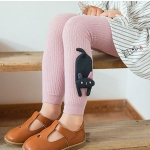 [ไซส์เด็ก] K8388 กางเกงเลกกิ้ง ขายาว ติดตุ๊กตาแมว สุด Cute