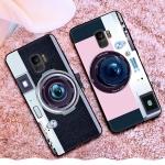 เคส Samsung S9 ซิลิโคนรูปกล้องถ่ายรูปน่ารัก ตรงเลนส์สามารถยืดออกมาตั้งได้ พร้อมสายคล้อง ราคาถูก