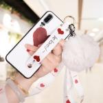 เคส Huawei P20 ซิลิโคนสกรีนลายหัวใจ พร้อมสายคล้องมือ สวยงามมาก ราคาถูก
