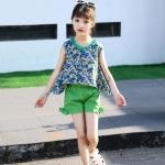 เสื้อ+กางเกง สีเขียว แพ็ค 6 ชุด ไซส์ 110-120-130-140-150-160