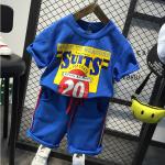 เสื้อ+กางเกง สีน้ำเงิน แพ็ค 5ชุด ไซส์ 100-110-120-130-140